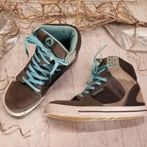 Airwalk Gray & Tan Size 7 High Tops